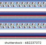 art boho pattern. ethnic... | Shutterstock .eps vector #682237372