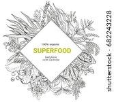 superfood rhombus banner ... | Shutterstock .eps vector #682243228