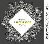 superfood rhombus banner ... | Shutterstock .eps vector #682243348