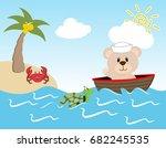 son of a sailor bear with a... | Shutterstock .eps vector #682245535