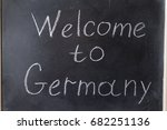 welcome to germany. the... | Shutterstock . vector #682251136