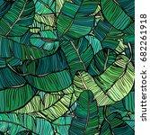 hand drawn vector seamless... | Shutterstock .eps vector #682261918