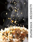 furikake on rice  japanese food | Shutterstock . vector #682264375