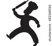 baker holding rolling pin... | Shutterstock .eps vector #682268566