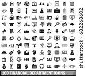 100 financial department icons... | Shutterstock .eps vector #682268602