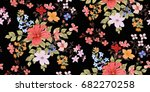 seamless floral pattern in... | Shutterstock .eps vector #682270258