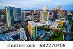 high above austin texas usa... | Shutterstock . vector #682270408