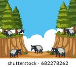 scene with anteaters in the... | Shutterstock .eps vector #682278262