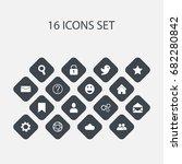 set of 16 editable network...