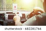 no signal cellphone network no... | Shutterstock . vector #682281766