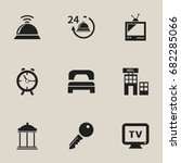 set of 9 editable plaza icons....