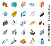 shop icons set. isometric set...