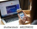 bangkok. thailand   july 20 ... | Shutterstock . vector #682298032