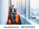 handsome businessman is...   Shutterstock . vector #682299682