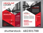 business brochure. flyer design.... | Shutterstock .eps vector #682301788