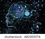 cpu mind series. design... | Shutterstock . vector #682303576