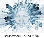 3d rendering   mind field... | Shutterstock . vector #682303702