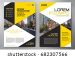business brochure. flyer design....   Shutterstock .eps vector #682307566