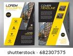 business brochure. flyer design.... | Shutterstock .eps vector #682307575