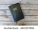 holy bible on wood table | Shutterstock . vector #682307806