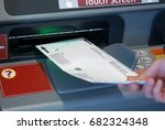 woman inserting envelop to... | Shutterstock . vector #682324348