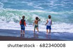 children on the beach. costa... | Shutterstock . vector #682340008