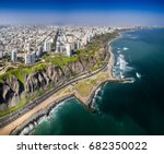 lima  peru  aerial view of... | Shutterstock . vector #682350022