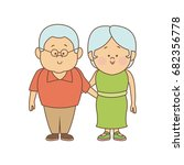 couple of lovely people. man... | Shutterstock .eps vector #682356778