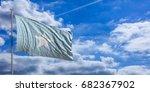 somalia waving flag on blue sky ... | Shutterstock . vector #682367902