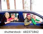 family in a car | Shutterstock . vector #682371862