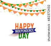 illustration of independence... | Shutterstock .eps vector #682372432