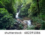 pliw waterfall is a large and... | Shutterstock . vector #682391086