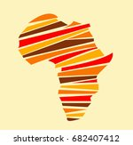 africa map | Shutterstock .eps vector #682407412
