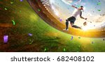 soccer player virtual reality... | Shutterstock . vector #682408102
