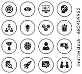 set of 16 idea icons set... | Shutterstock .eps vector #682409932