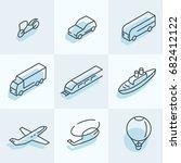 transport isometric icons | Shutterstock .eps vector #682412122