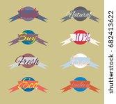 sale stickers  online shopping. ...   Shutterstock . vector #682413622