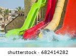 water slides in aqua park at... | Shutterstock . vector #682414282