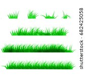 green grass  isolated on white... | Shutterstock .eps vector #682425058