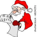 santa claus with the list | Shutterstock .eps vector #6824251