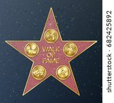 hollywood walk of fame. vector... | Shutterstock .eps vector #682425892
