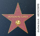 hollywood walk of fame. vector... | Shutterstock .eps vector #682425898