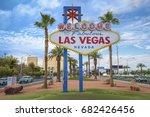 the fabulous welcome las vegas... | Shutterstock . vector #682426456