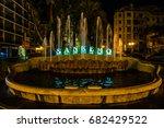 Fountain In Sanremo City Night...