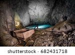 old abandoned underground mine... | Shutterstock . vector #682431718