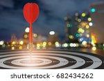target dart with arrow over... | Shutterstock . vector #682434262