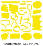 hand drawn highlighter marker's ... | Shutterstock .eps vector #682444396