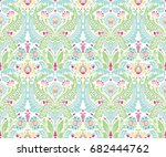 moroccan damask design  repeat... | Shutterstock .eps vector #682444762