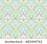 moroccan damask design  repeat... | Shutterstock .eps vector #682444762