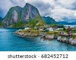 the fishing village of reine ... | Shutterstock . vector #682452712